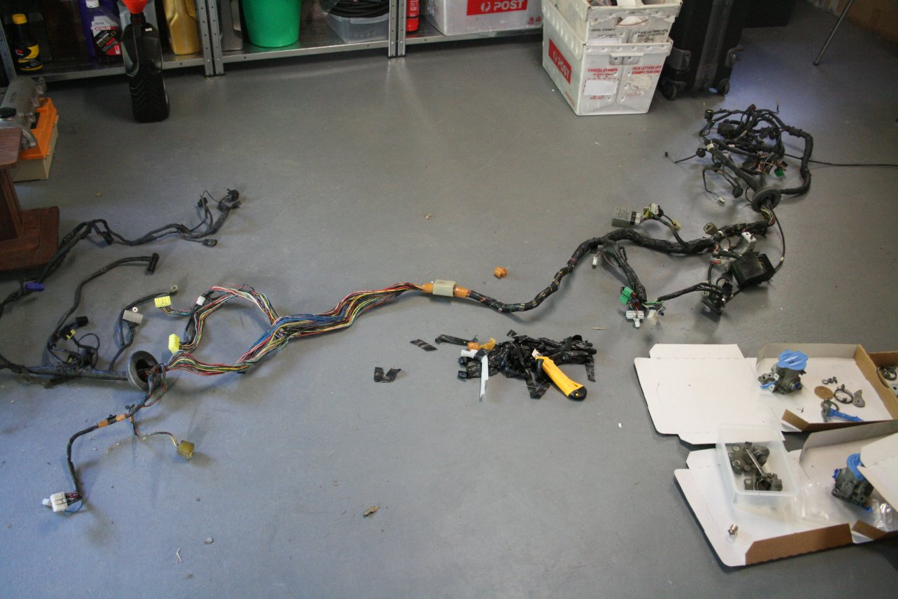 I've stripped the following from the harness so far: All engine wiring
